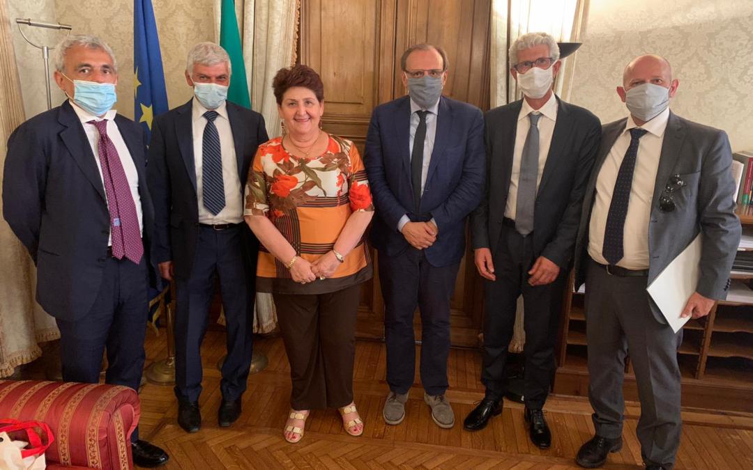 Delegazione Claai ricevuta dal ministro Bellanova