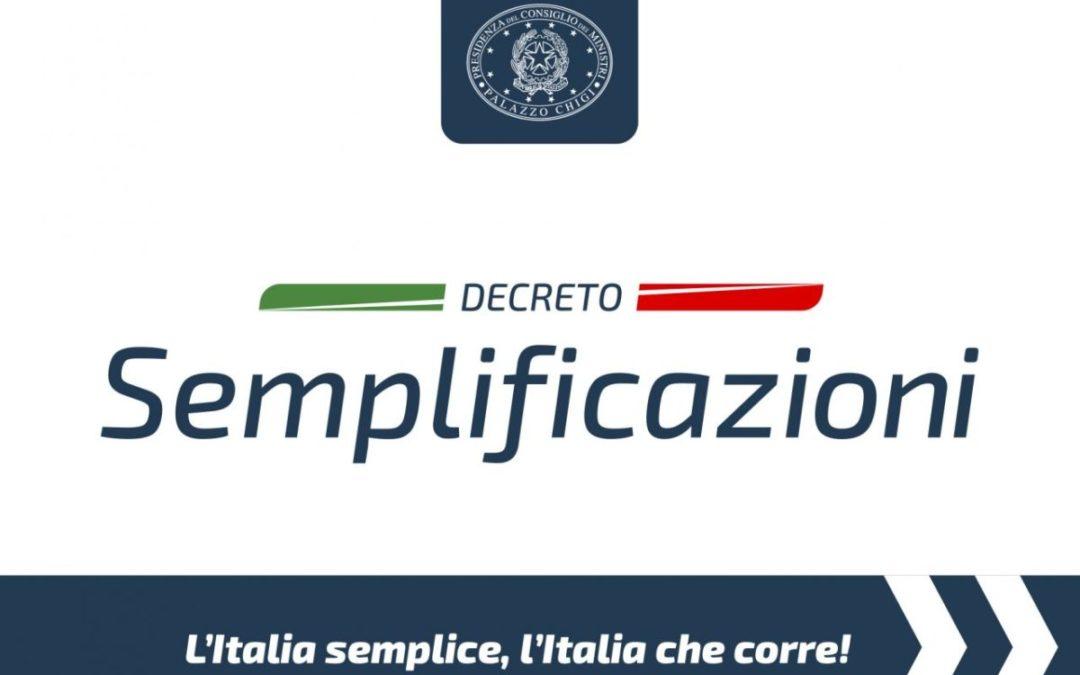 """Il """"Decreto Semplificazioni"""" nelle slides del Governo"""