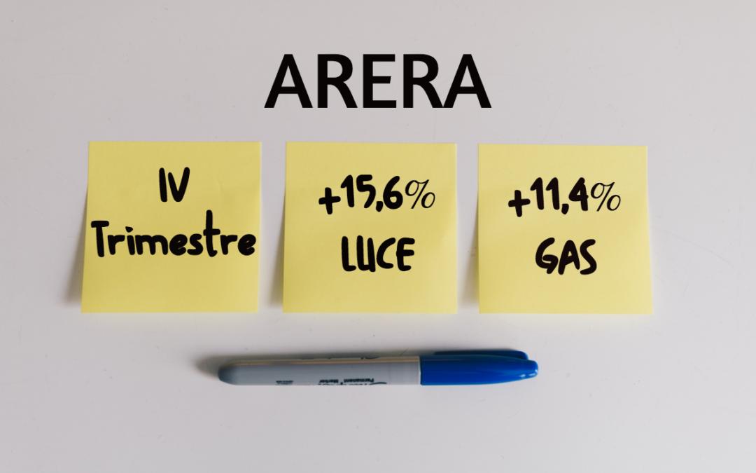 Bollette, da ottobre forte aumento delle tariffe: +15,6% sulla luce e +11,4% sul gas