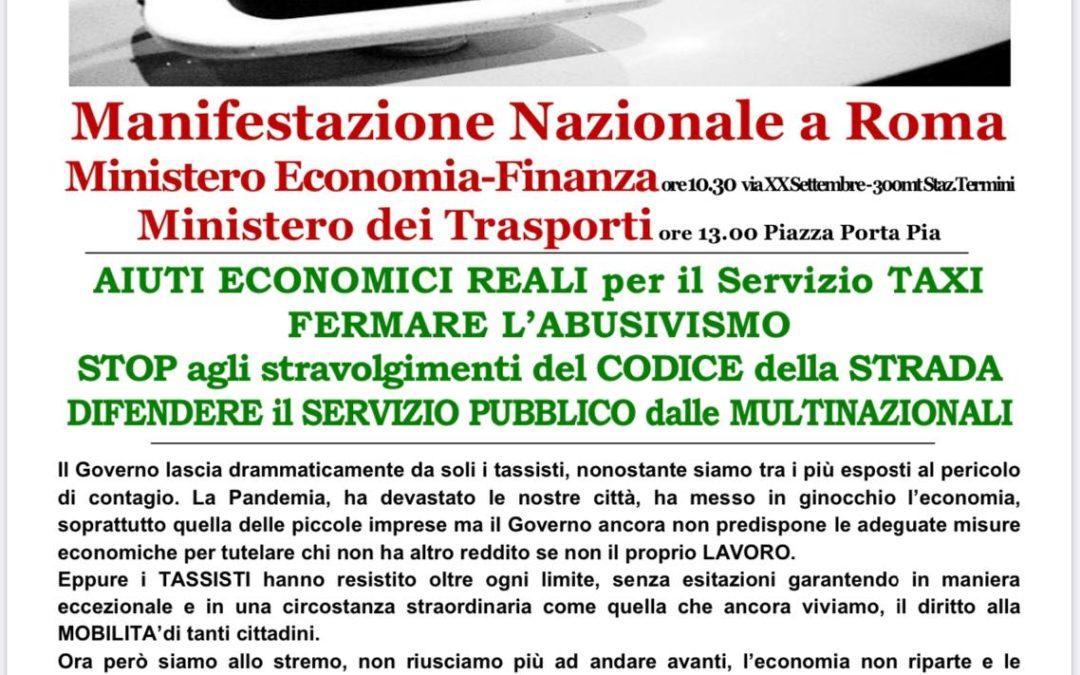 Taxi, sciopero e manifestazione nazionale il 6 novembre