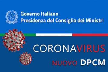 Nuovo Dpcm del 18 ottobre 2020